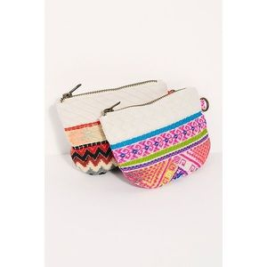 Free People serape canvas Coin Pouch